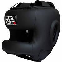 Боксерский шлем тренировочный RDX с бампером.  Черный