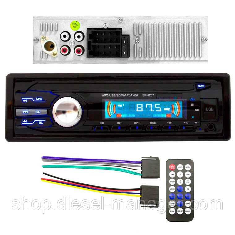 Автомагнитола SP-5237 ISO USB Micro SD (33979)