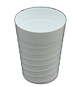 Стакан пластиковый 300мл белый Магия Пласт