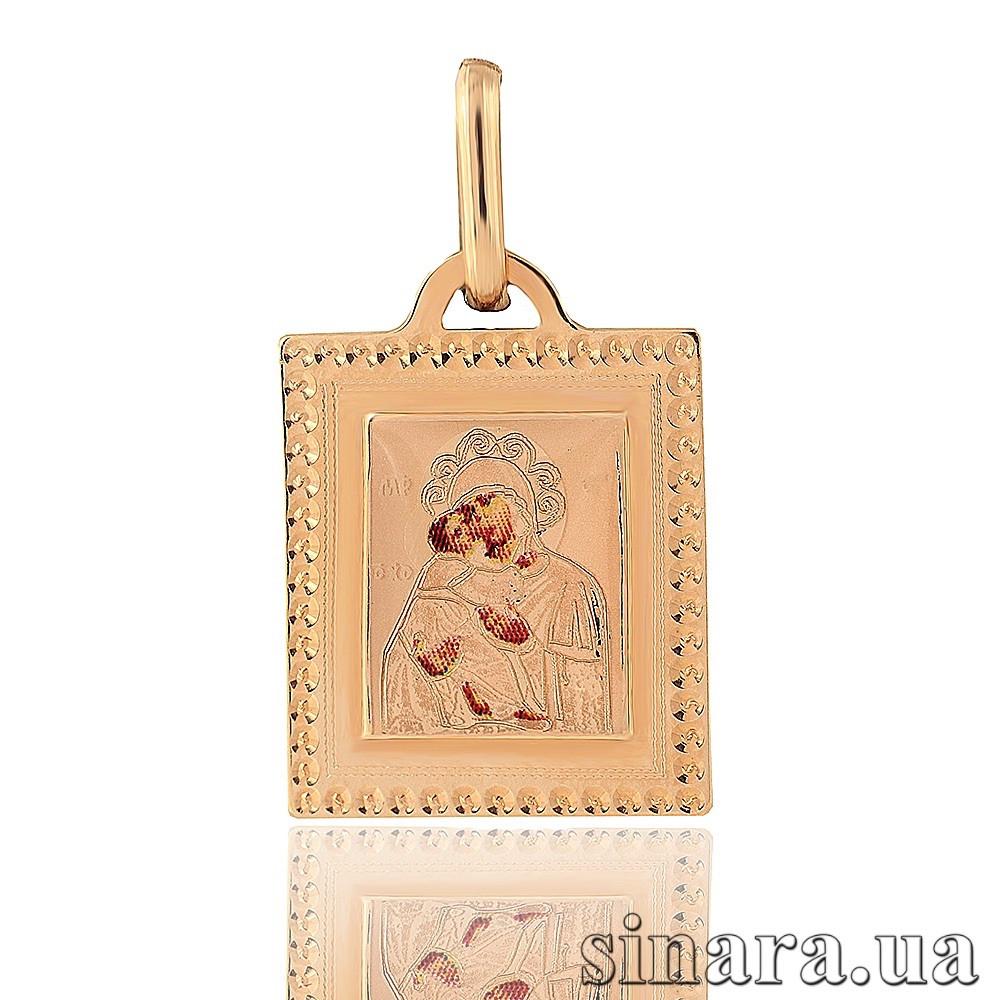 Золотая ладанка Божия матерь с младенцем 23297