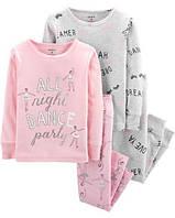 """Набор с двух пижамок 4 в 1 """"Балерина"""" Carter's для девочки розовый 3Т/93-99 см"""