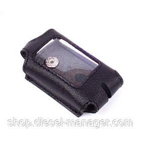Чехол Valenta для брелока Sheriff 945/ 945 Pro кожаный Черный (РК651)