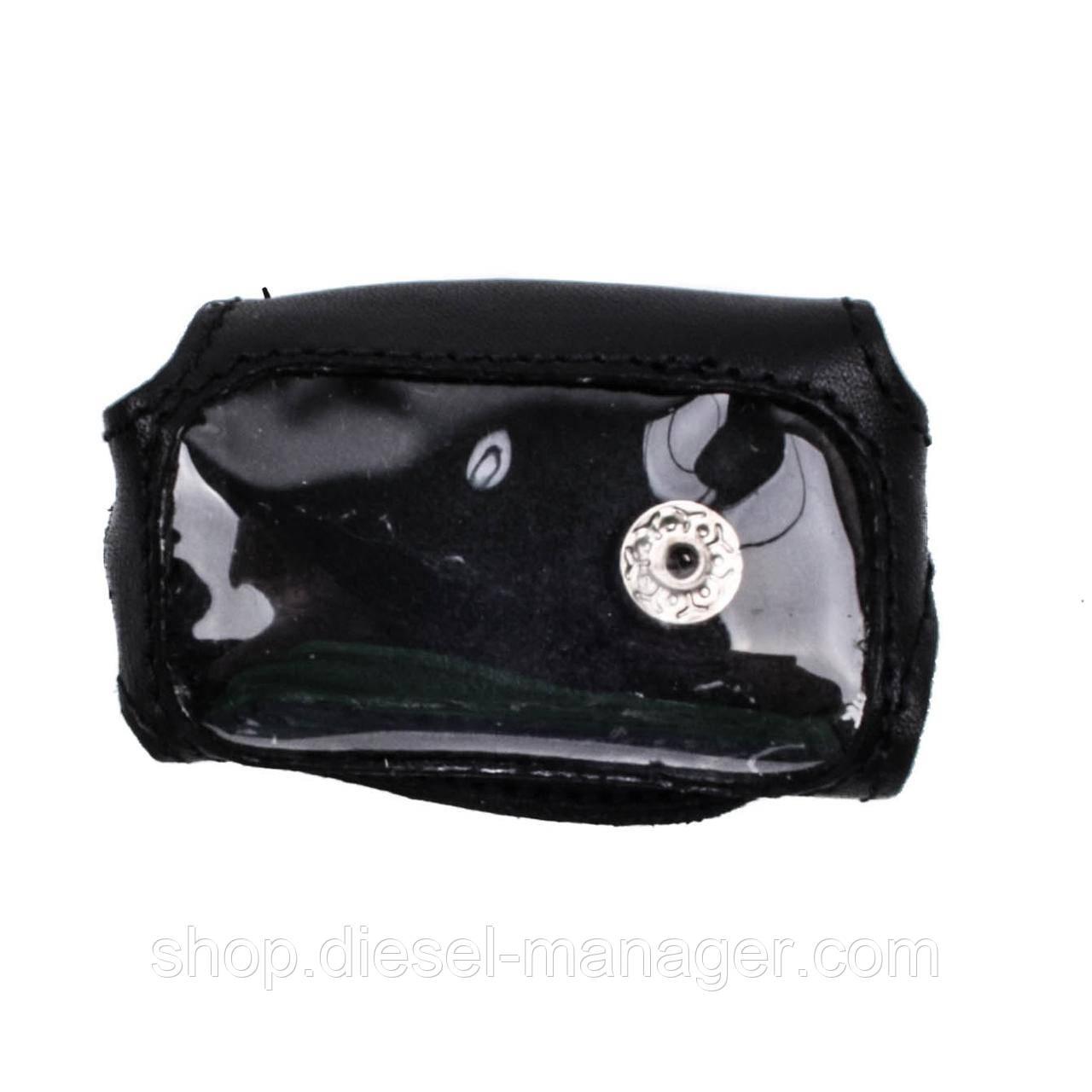 Кожаный чехол Valenta для брелока Davinci 300/377 Черный (РК441)