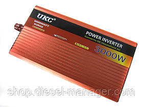 Преобразователь UKC 12V-220V AR 3000W авто инвертор c функции плавного пуска (sp_3053)