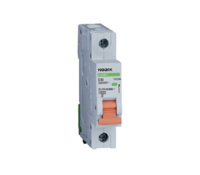 Автоматический выключатель Noark 10кА, х-ка D, 20А, 1P, Ex9BH 100459, фото 2
