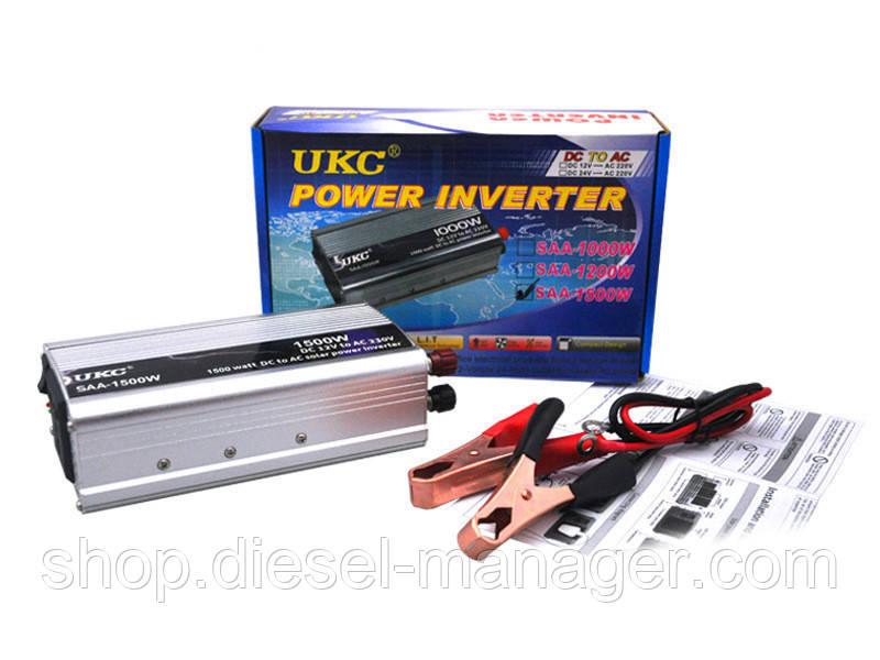Преобразователь UKC 12V-220V 1500W автомобильный инвертор (sp_1882)
