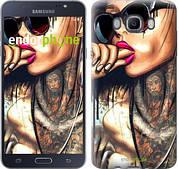 """Чехол на Samsung Galaxy J7 (2016) J710F Девушка в тату """"4001c-263-2911"""""""