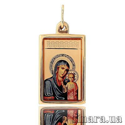 Золотая ладанка Божия матерь с младенцем 23581