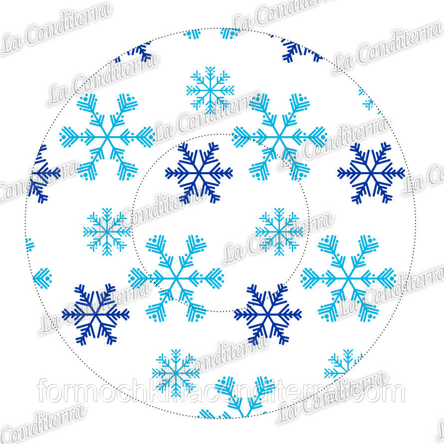 "Формы для конфет ""Снегопад"" 3b (Ø30, бортик – 24 мм), 2000 шт."