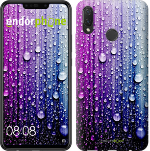 "Чехол на Huawei P Smart Plus Капли воды ""3351u-1555-2911"""