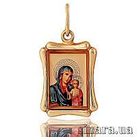Золотая ладанка Божия матерь с младенцем 23592