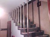 Алюминиевые перила  с вертикальными леерами, фото 3