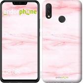 """Чехол на Huawei P Smart Plus розовый мрамор """"3860u-1555-2911"""""""