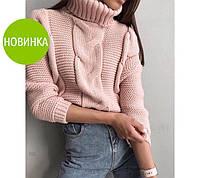 """Женский вязаный свитер под горло """"Soft"""", фото 1"""