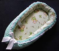"""Гнездышко для новорожденного с ортопедическим матрасом """"Винни-пух"""""""