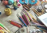 Принадлежности для вязания спицами и крючком