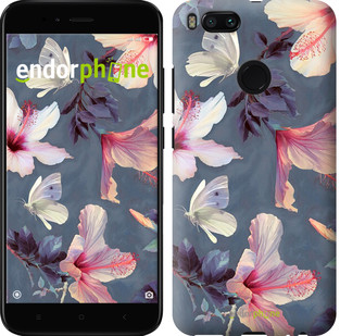 """Чехол на Xiaomi Mi A1 Нарисованные цветы """"2714c-1132-2911"""""""