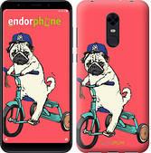 """Чехол на Xiaomi Redmi 5 Plus Мопс на велосипеде """"3072c-1347-2911"""""""