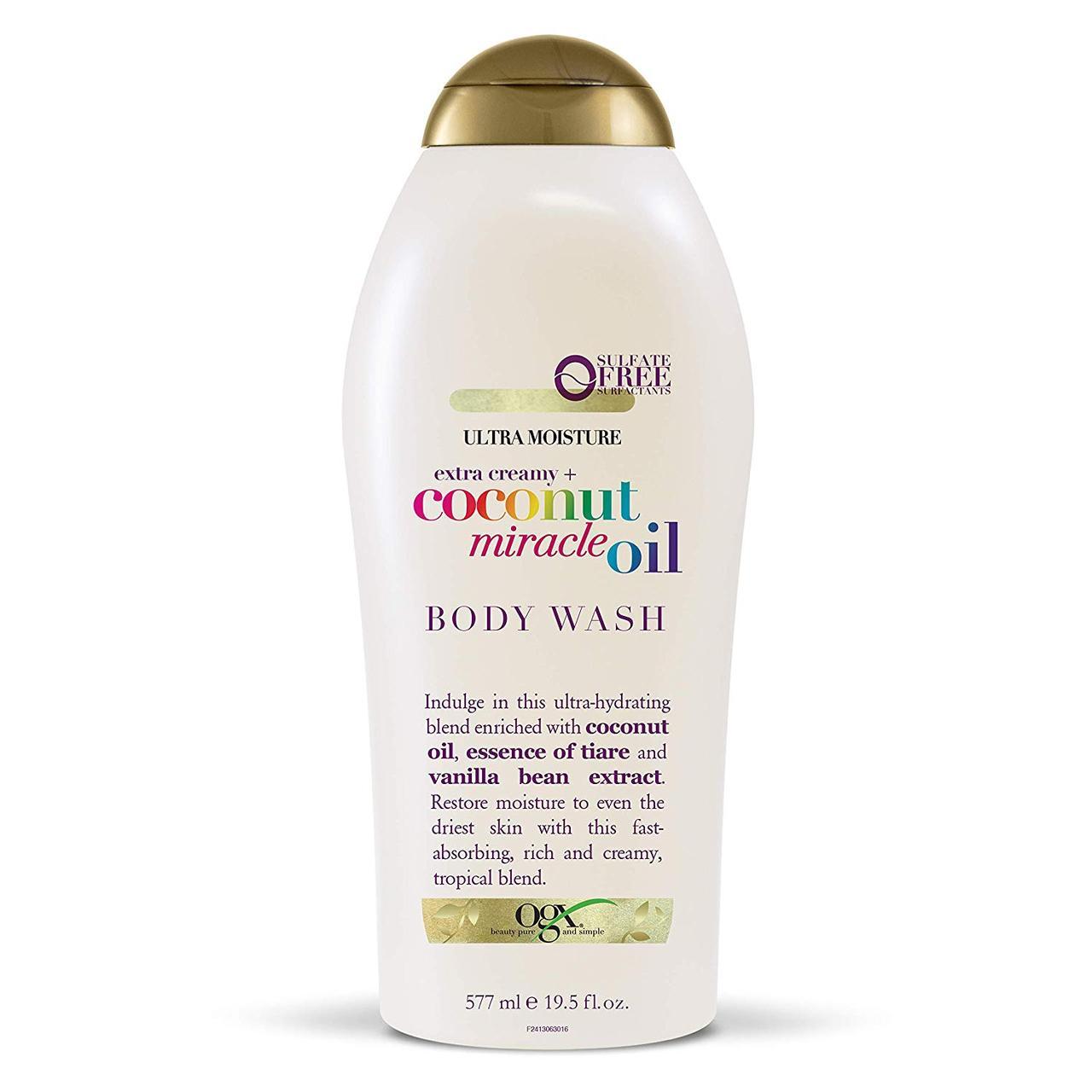 Ультраувлажняющий гель для душа с кокосовым маслом OGX Extra Creamy + Coconut Miracle Oil Ultra Moisture Body