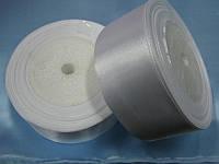 Лента атлас 40 мм, белый