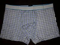 Мужские хлопковые трусы-боксеры, клетка, размер 2XL (2 расцветки), фото 1