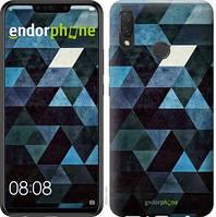 "Чехол на Huawei P Smart Plus Треугольники ""2859u-1555-2911"""