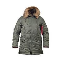 Куртка зимняя Slim Fit Аляска N-3B Olive, фото 3