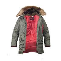 Куртка зимняя Slim Fit Аляска N-3B Olive, фото 2