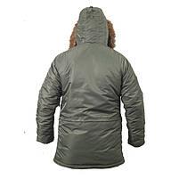 Куртка зимняя Slim Fit Аляска N-3B Olive, фото 4