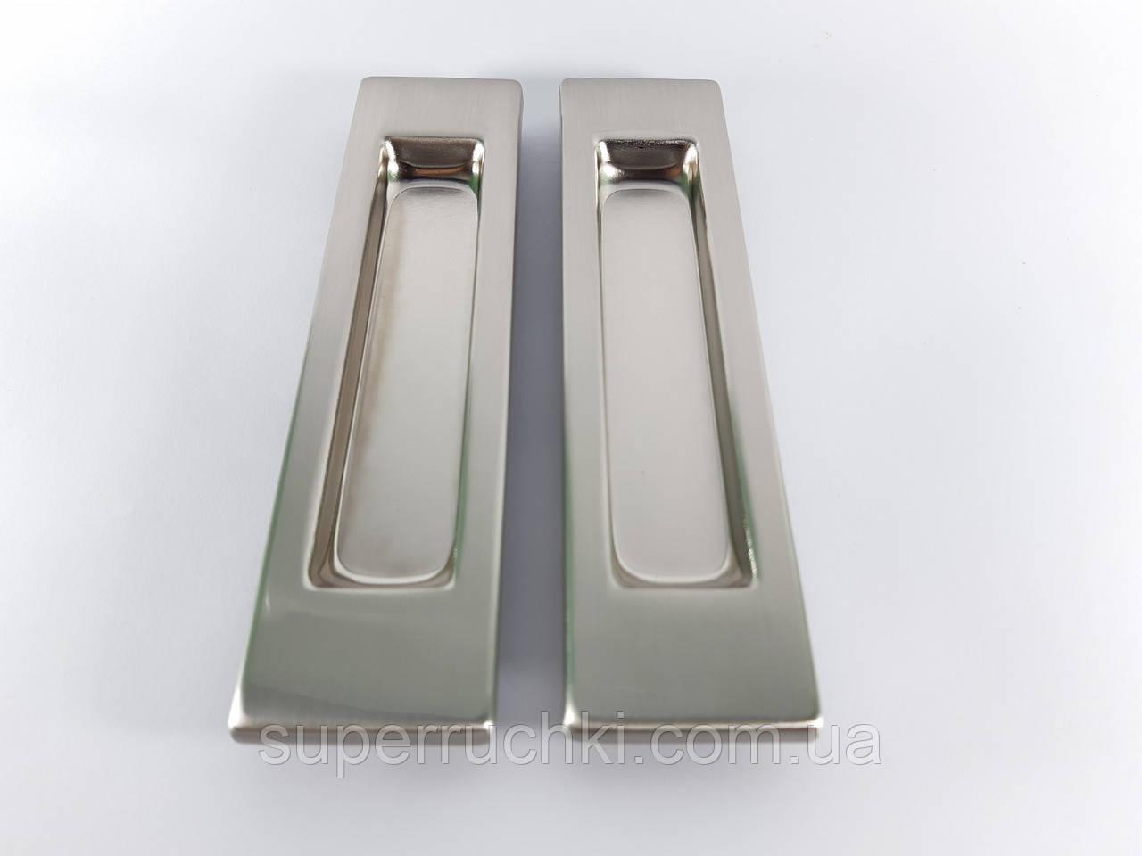 Ручка для раздвижных дверей прямая USK SN (матовый никель)
