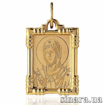 Золотая ладанка Божия матерь Семистрельная 6807