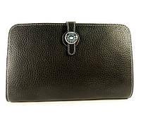 Клатч - кошелек кожаный женский черный 536 , фото 1