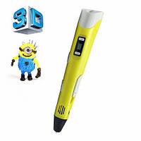 3D ручка PEN-2 с Led дисплеем, 3Д ручка 2 поколения Smartpen, MyRiwell, Акция!! Желтый