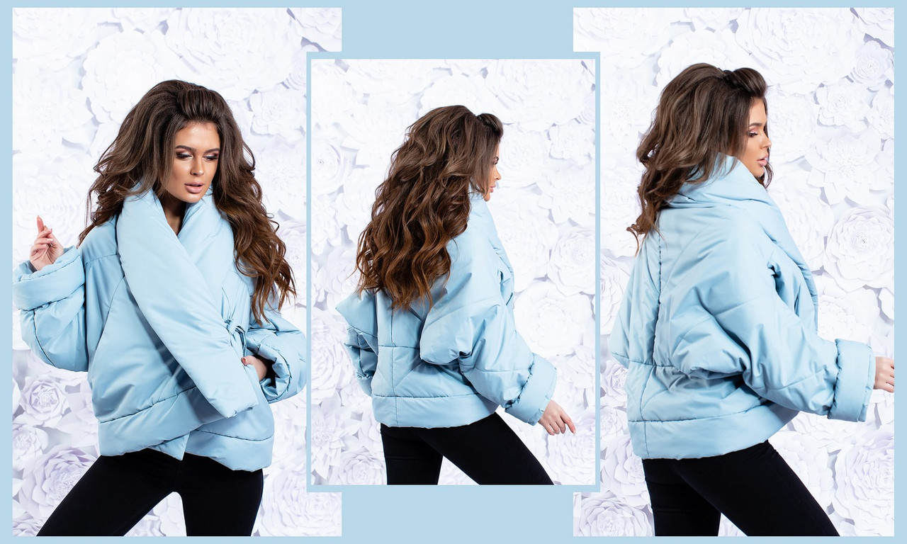 """Женская тёплая куртка-трансформер на силиконе до больших размеров 5-680""""Плащёвка Одеяло Завязки"""" в расцветках"""