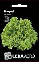 """Семена салата Кюрли, 10 сем. (драж)., тип батавия, ТМ """"ЛедаАгро"""""""