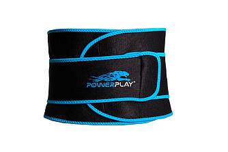 Пояс для схуднення PowerPlay 4303 Чорно-Синій