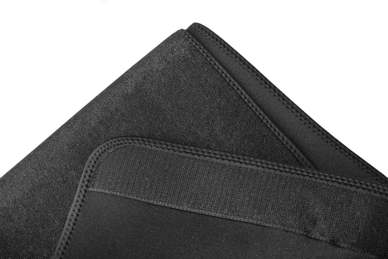 Пояс для схуднення PowerPlay 4301 (125*30) Чорний з додатковою кишенеюдля телефону, фото 3
