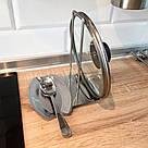 Кухонная подставка для крышки и лопатки из нержавейки, фото 2
