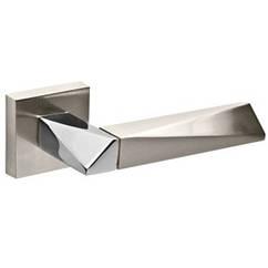 Ручки дверні FUARO DIAMOND DM SN/CP-3 матовий нікель/хром