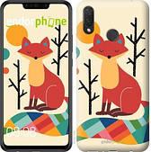 "Чехол на Huawei P Smart Plus Rainbow fox ""4010u-1555-2911"""