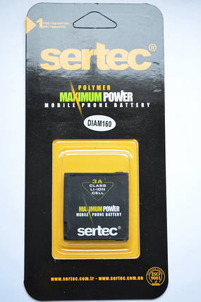 Аккумулятор для HTC P3700 Touch Diamond DIAM160 Sertec, фото 2