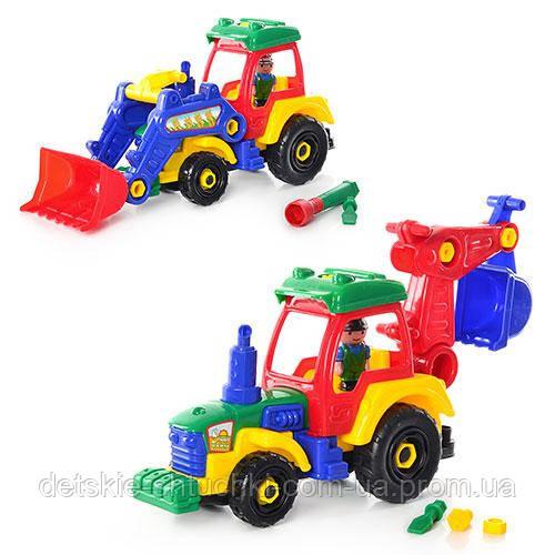 Конструктор JT 1233 трактор 38 см