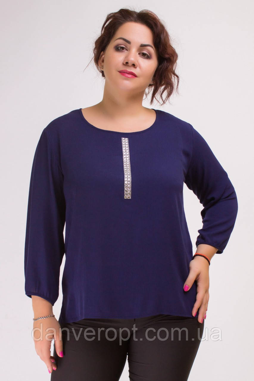 0de58e2b6c49c Блузка женская стильная модная с аппликацией размер 44-54, купить оптом со  склада 7км