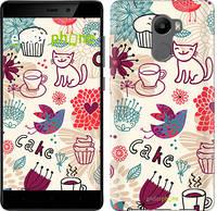 "Чехол на Xiaomi Redmi 4 Птички котики и тортик ""2914c-417-2911"""