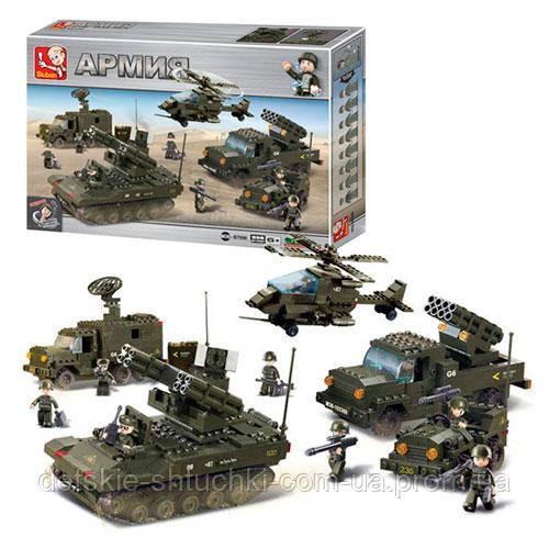 Конструктор фігурка M38-В7000 армія, військова техніка, фігурки, 956 дет., кор., 57-38-9 см