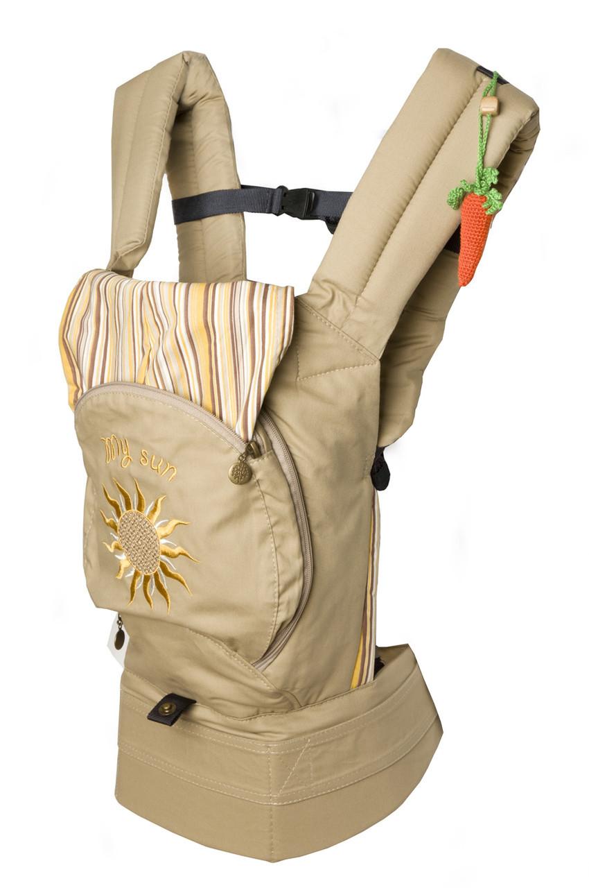 """Эргономический рюкзак """"My sun"""" , кенгуру. С сеточкой для проветривания спинки. НОВИНКА!"""