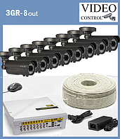 """Комплект уличного видеонаблюдения 8 камер 3G-SDI  """"3GR-8"""" (1980×1080), фото 1"""