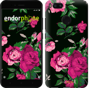 "Чехол на Xiaomi Mi A1 Розы на черном фоне ""2239c-1132-2911"""