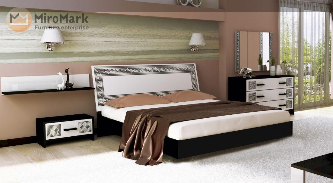 Спальня Виола (глянец белый /чёрный мат)