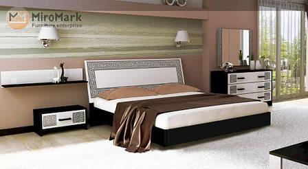 Спальня Виола (глянец белый /чёрный мат), фото 2
